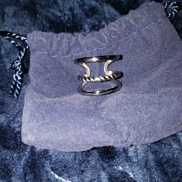 NWT QVC Stainless Steel Ring